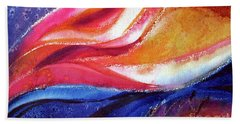 Beach Sheet featuring the painting As I Bloom by Kathy Braud