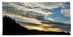 Beach Towel featuring the photograph As I Watch The Sun Rise by Maria Urso
