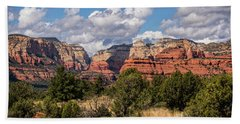 Beach Towel featuring the photograph As The Clouds Pass On By In Sedona  by Saija Lehtonen