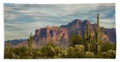 Beach Towel featuring the photograph As The Evening Arrives In The Sonoran  by Saija Lehtonen