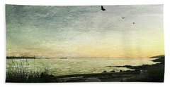Beach Towel featuring the photograph As The Sky Darkens  by Connie Handscomb