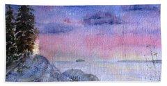 As The Sun Sets Beach Sheet