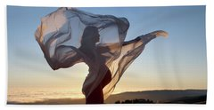 As The Wind Carries The Flower Of A New Life Beach Sheet