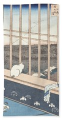 Asakusa Rice Fields And Festival Of Torinomachi From The Series One Hundred Famous Views Of Edo Beach Towel