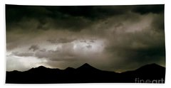 Texas Mountains Silhouette And The Ascension Of The Dusking Sky Beach Sheet