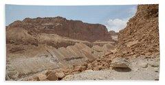 Ascension To Masada - Judean Desert, Israel Beach Sheet by Yoel Koskas