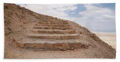 Beach Towel featuring the photograph Stairway To Heaven - Masada, Judean Desert, Israel by Yoel Koskas