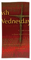 Ash Wednesday Beach Sheet