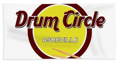 Asheville Drum Circle Logo Beach Towel