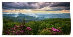 Asheville Nc Blue Ridge Parkway Scenic Landscape Photography Beach Sheet