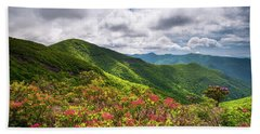 Asheville Nc Blue Ridge Parkway Spring Flowers North Carolina Beach Towel
