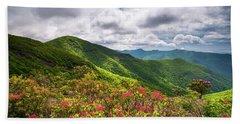 Asheville Nc Blue Ridge Parkway Spring Flowers North Carolina Beach Towel