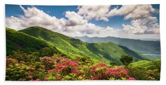 Asheville Nc Blue Ridge Parkway Spring Flowers Scenic Landscape Beach Sheet