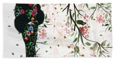Asian Art Deco Beauty Beach Towel