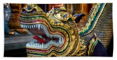 Asian Temple Dragon Beach Towel by Adrian Evans