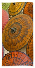 Asian Umbrellas Beach Towel