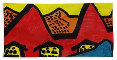 Asian Village  Beach Towel by Don Koester