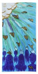 Beach Towel featuring the painting Ask Of Me by Nathan Rhoads