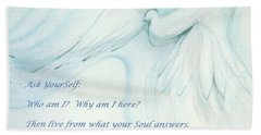 Beach Towel featuring the pastel Ask Yourself by Denise Fulmer