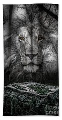 Aslan And The Stone Table Beach Towel