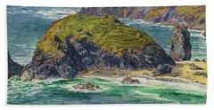 Asparagus Island Beach Towel by William Holman Hunt