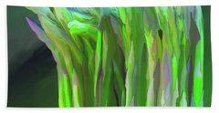 Asparagus Study 01 Beach Towel by Wally Hampton