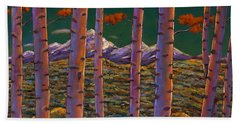 Aspen At Night Beach Towel