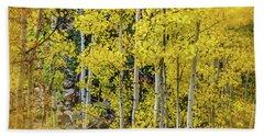 Beach Sheet featuring the photograph Aspen Autumn Burst by Bill Gallagher