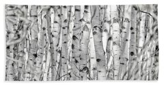 Beach Towel featuring the photograph Aspen Forest Iv by Brad Allen Fine Art
