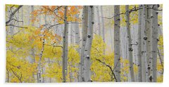 Aspen Forest Texture Beach Towel