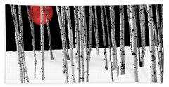 Beach Towel featuring the photograph Aspen Grove Winter by Juli Scalzi