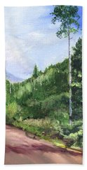Beach Towel featuring the painting Aspen Heaven by Jane Autry