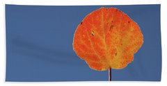 Beach Sheet featuring the photograph Aspen Leaf 1 by Marie Leslie