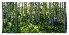 Aspen Morning 1 Beach Towel by Marie Leslie