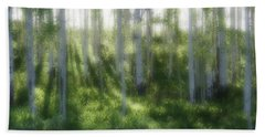 Aspen Morning 2 Beach Towel by Marie Leslie