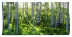 Aspen Morning 3 Beach Towel by Marie Leslie