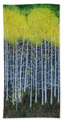 Aspen Stand The Painting Beach Towel