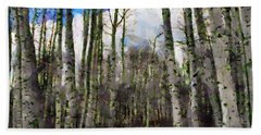 Aspen Standing Beach Sheet by Jeff Kolker