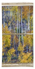 Aspen Tree Magic Cottonwood Pass White Farm House Window Art Beach Towel