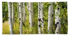 Aspen Trees Beach Towel
