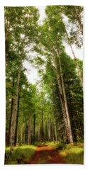 Beach Towel featuring the photograph Aspens Galore by Rick Furmanek