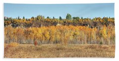 Aspens In Autumn Beach Sheet