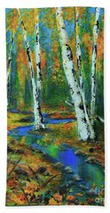 Aspens Beach Towel by Jeanette French