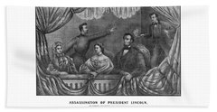 Assassination Of President Lincoln Beach Towel