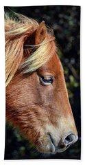 Assateague Horse Sarah's Sweet Tea Right Profile Beach Towel