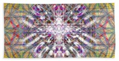 Assent From The Womb In The Flower Tree Of Life Beach Towel by Christopher Pringer
