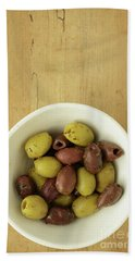 Assorted Greek Olives  Beach Towel