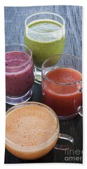 Assorted Smoothies Beach Towel by Elena Elisseeva