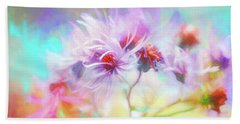 Asters Gone Wild Beach Sheet