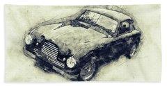 Aston Martin Db2 Gt Zagato 1 - 1950 - Automotive Art - Car Posters Beach Towel